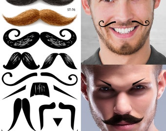 Supperb® Temporary Tattoos - Mustache Tattoos Set