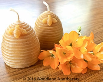 100% Beeswax Candles - Set of 2