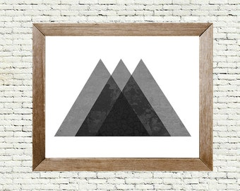 Abstract Art - Textured Layered Triangles