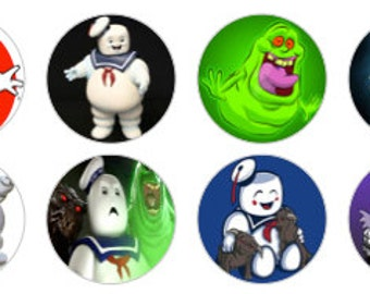 "Ghostbusters Inspired 1"" Bottle Cap Images Digital Download"