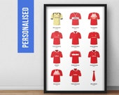 Personalised Middlesbrough Greatest All Time Fantasy Football Team Poster Art Print *FREE UK DELIVERY*