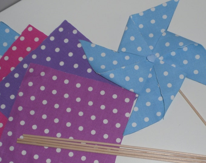 Kit for 10 windmills deco fabric choice