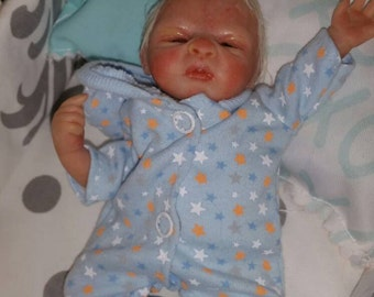 """6-7"""" Mini ooak sculpted posable clay baby"""