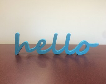 Wood Words, Wooden Words, Smile, Hello, Love