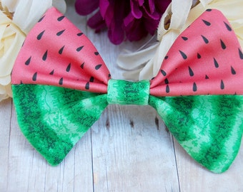 Watermelon Bow // Summer, Fruit, Novelty, Cute, Gift, Melon