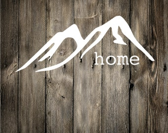 Mountain Home Decal, Vinyl Decal, Car Decal, Phone Decal, Laptop Decal, Water Bottle Decal, Vinyl Sticker