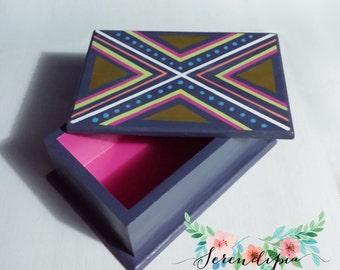 Boho Chic wooden box