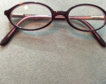 Vintage Classic Purple  Round Kid Frame Eyeglasses