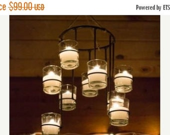 Bell Tent Chanelier Glamping Chandelier, candle chandelier, bell tent, bohomian bell tent pole
