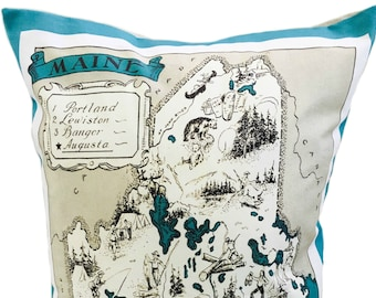 Maine State Pillow Cover with Insert