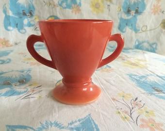 Vintage orange sugar bowl made in japan