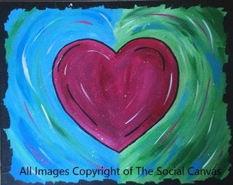 """16x20 canvas """"Splatter Heart"""""""