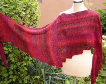 Triangle shawl hand knit scarf triangle towel