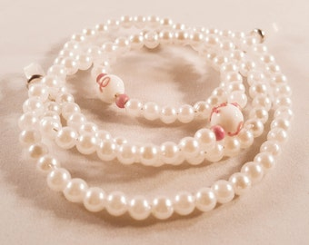Faux Pearl Breast Cancer Awareness Eyeglasses chain