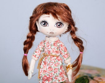 Art Dolls. Toys & Games.gift for bithday.doll textile.Cloth Doll