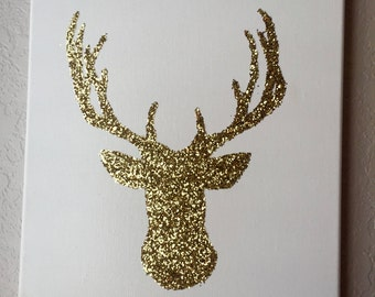 Glitter Deer Wall Art