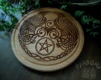 Altar pentacle, Hugin and Munin, Pentagramm