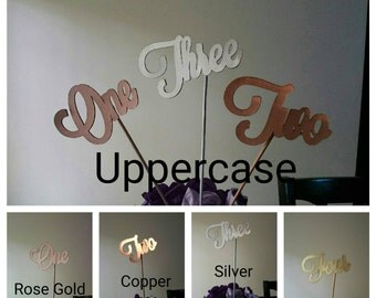 Metallic Event Table Numbers