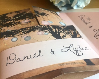 Personalised High Quality Rustic Wedding Belly Bands
