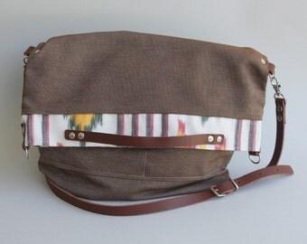 Foldover Bag Brown
