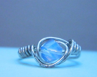 Blue Iridescent Ring