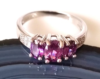 1 Gothic ring Amethyst 925 Sterling Silver 5mm 55 17