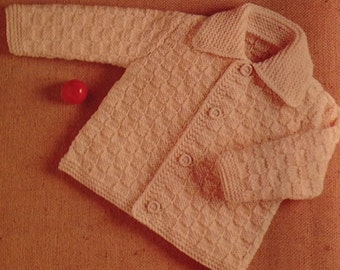Crochet Baby Sweater Size 10-12 Months