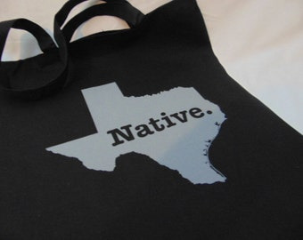 Texas Native Grocery Tote Bag - Farmer's Market - Books