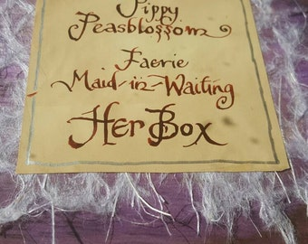 This is a box belonging to Pippy Peasblossom- Fairy Maid-in-waiting to the fairy queen.
