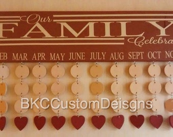 Our Family Board - Family board - Birthday sign - Birthday chart - family birthday sign