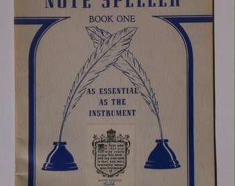 Vintage 1945 Song Book, John W. Schaum, Note Speller, As Essential as the Instrument, Lithographed in USA, Belwin, New York, Vintage Songs