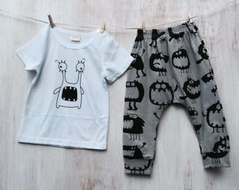 Monster T-shirt and Pants