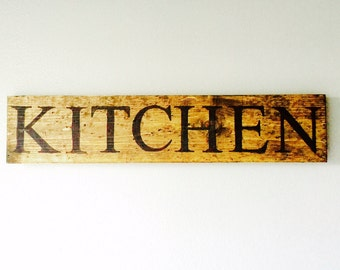 KITCHEN sign, Rustic, Modern Rustic, Chic, Decor, Rustic Decor, wall decor, wall