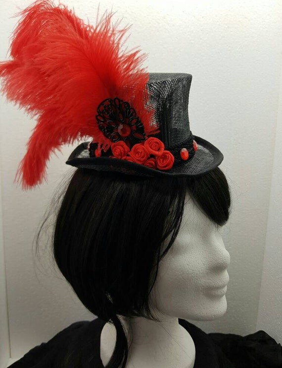 SALE Sinamay Hat / Sinamay has red crystals