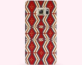 Samsung Note7 Case Navajo pattern indigo red tribal, Note 7 Case, S6 Edge Plus Case, Note 5 Case, Samsung galaxy s6 case