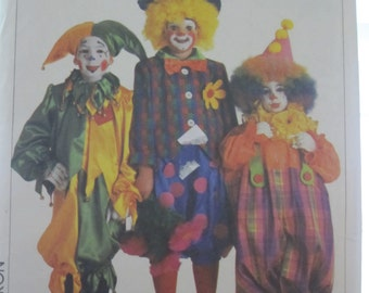 PATTERN SIMPLICITY 7120 CLOWN size child: 2 to 4 years Vintage
