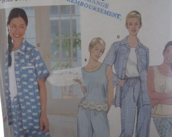 Patterns Simplicity 9329 easy to sew sleepwear for women