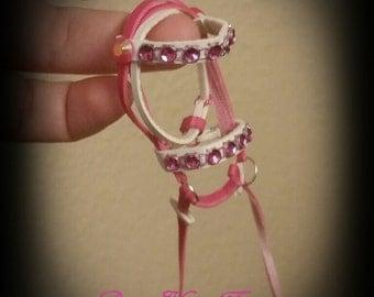1:9 scale Hot pink/White cm breyer english bridle