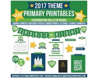 Primary 2017 Bulletin Board Bundle Digital Download Pdf & Jpg Files