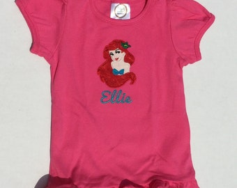 Personalized Ariel The Little Mermaid Tee-Shirt