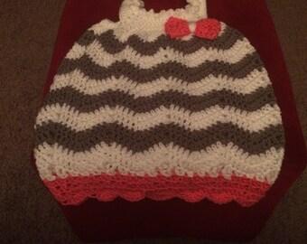 Chevron Crochet Bubble Dress