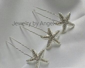 Bridal Starfish Hair Pin Wedding Starfish Hair Jewelry Starfish Hair Accessory Hairpins