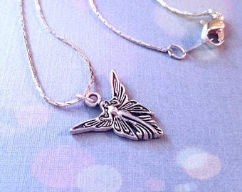 Fairy Necklace / Silver Fairy Necklace / Fairy Wings Necklace / Charm Necklace