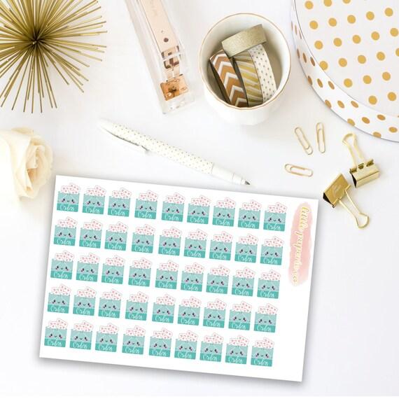 Planner Sticker Shops, Order Stickers - Planner Stickers, Stickers For Planner, Shop Owner Stickers, Planner Decor, Item Stickers
