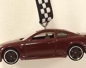 Infinity G37  - brown burgundy metallic - Christmas Ornament - FREE SHIPPING