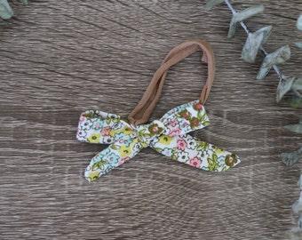 Floral Bow Baby Headband