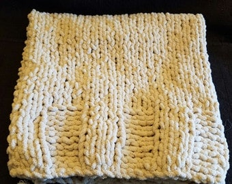Hand knit ultra soft washable baby blankets