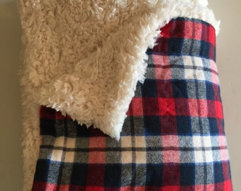 Plaid Flannel Throw