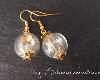 Earrings earrings Gold Flower