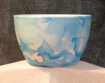 Baby blue ceramic bowl